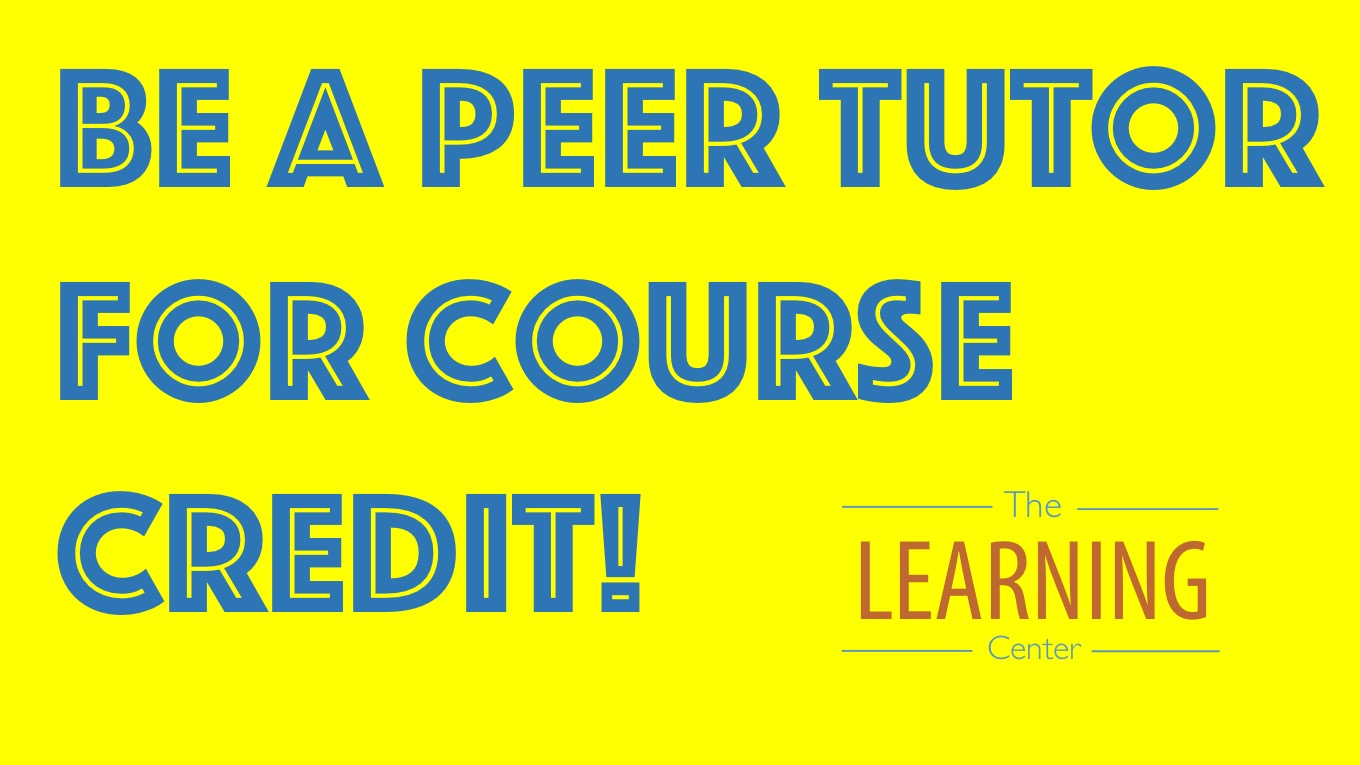 Be a Peer Tutor for EE Course Credit!